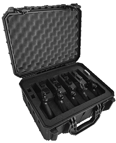 Multiple Pistol Case 5 Pack