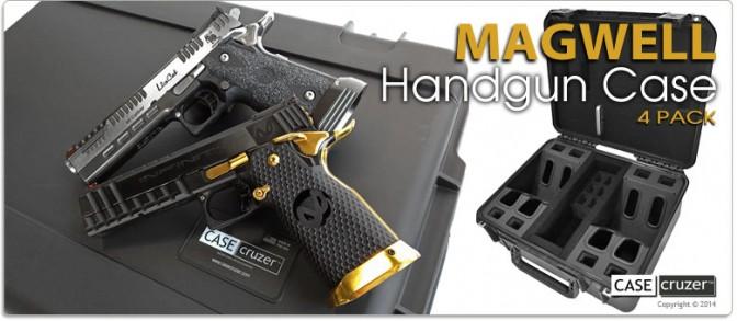 Magwell Handgun Case 4 Pack - Shooting Range Pro Series