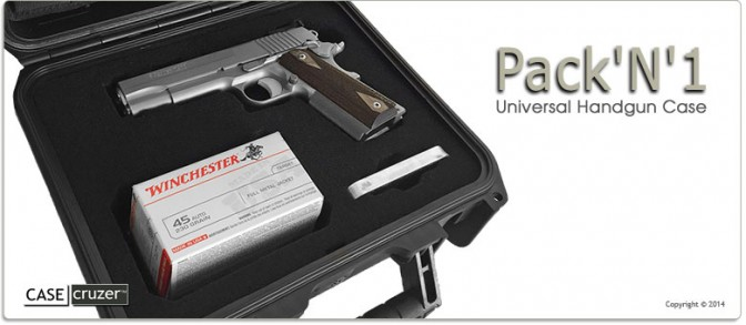 Pack 'N' 1 - Universal Handgun Case Single