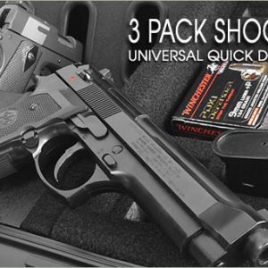 Shooting Range Handgun Case - Universal 3 Pack