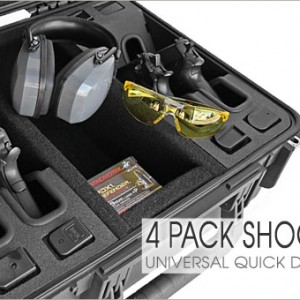 Universal Shooting Range 4 Pack Handgun Case