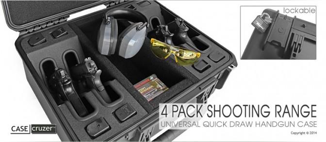 Universal Shooting Range 4 Pack Handgun Case