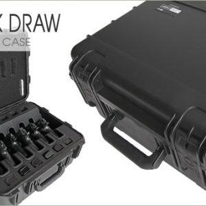 universal gun case 6 pack 12 magazines