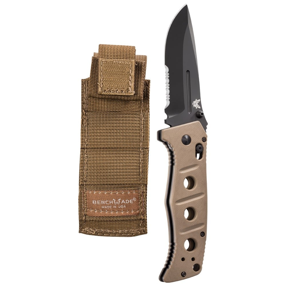 Benchmade Adamas Folding Knife Desert Tan G10 Handles 275SBKSN
