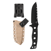 Benchmade Sibert Adamas Fixed Black Blade Knife 375BKSN
