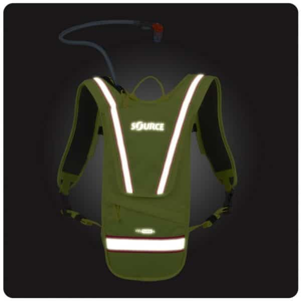 iVis Firefly 2L Hydration pack green glow