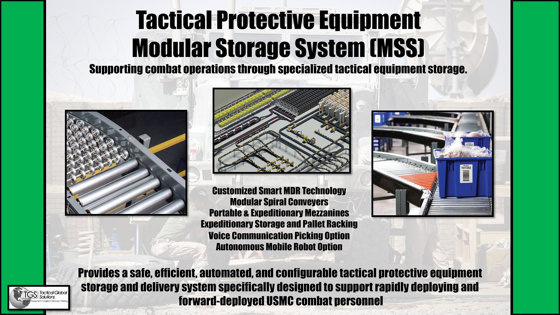 TGS Tactical Protective Equipment Modular Storage System